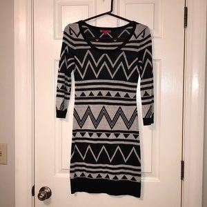 Dresses & Skirts - NWOT black & white Aztec sweater dress